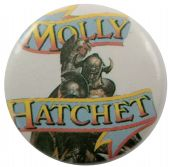 Molly Hatchet - 'The Deed is Done' Button Badge